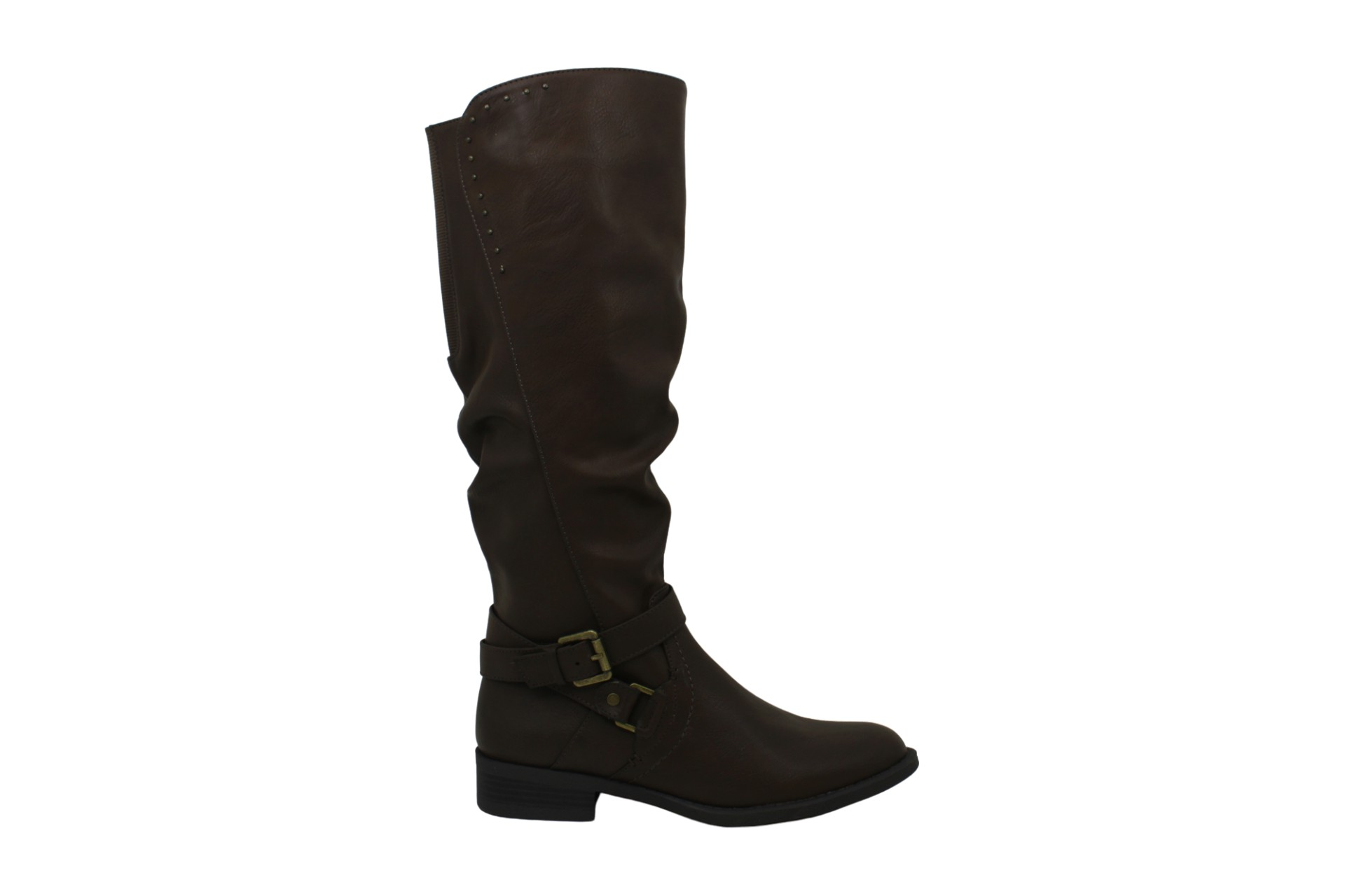 WHITE MOUNTAIN Shoes Liona Women's Wide Calf Boot,, Brown, Size 5.5 US / 3.5 UK