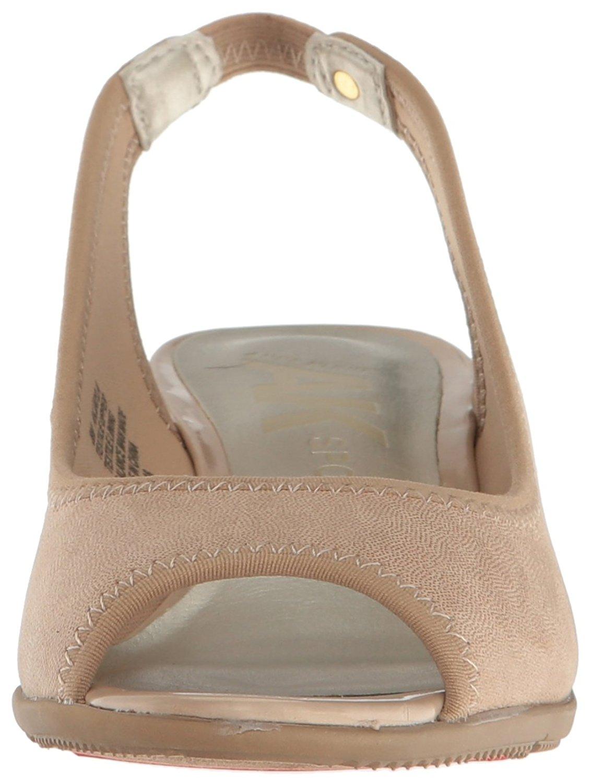 e67e4913bbb5 Anne Klein Womens jayla Fabric Open Toe Ankle Strap Wedge Pumps
