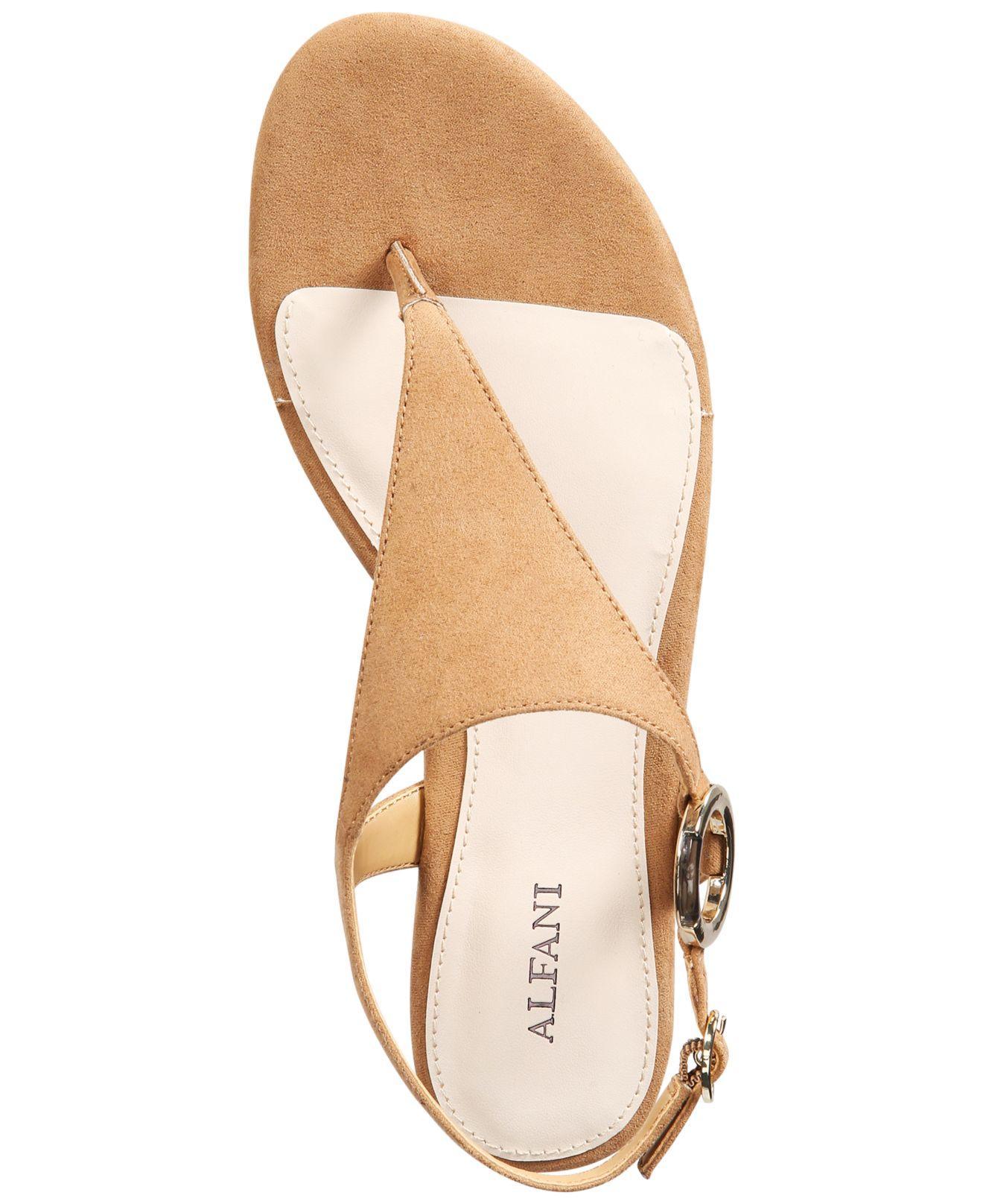 6e02bd1ec2b5e Alfani Womens Honnee Open Toe Casual Ankle Strap Sandals
