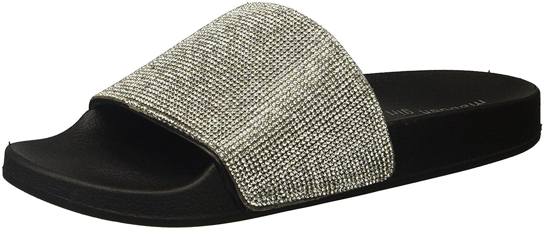bee9eb35f43 Madden Girl Women s Fancy Slide Sandal
