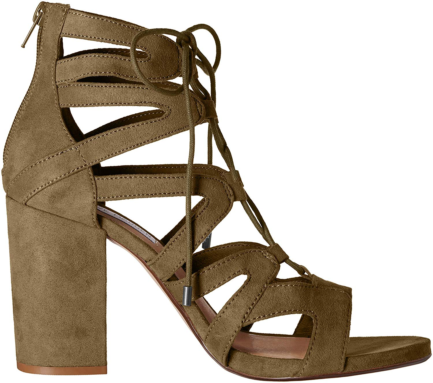 b4d326865d0 Steve Madden Womens Gal LaceUp Open Toe Casual Strappy Sandals