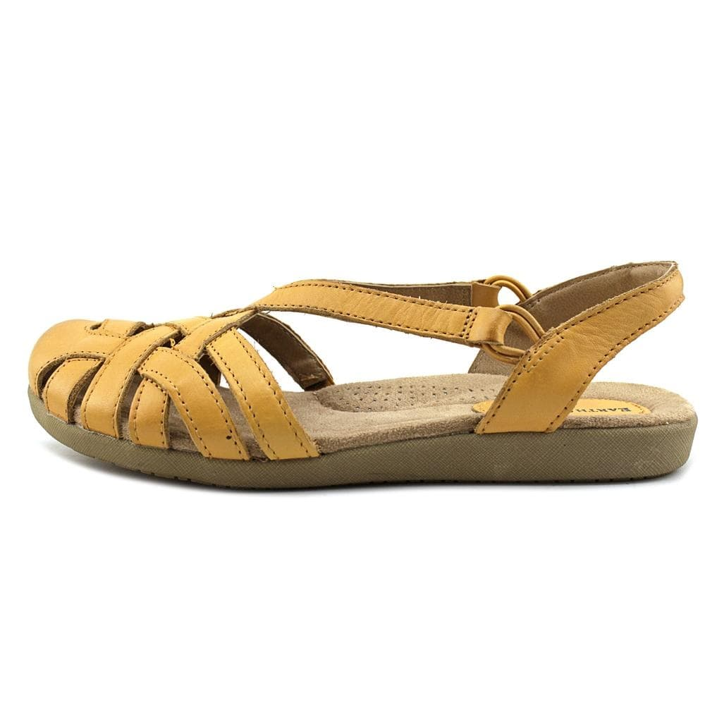 a3eee7bde3b995 Earth Origins Womens Nellie Leather Closed Toe Casual Slingback Sandals