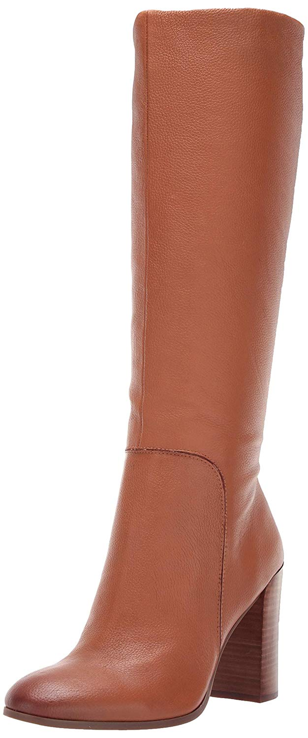 7e1d3b0093f Details about Kenneth Cole New York Womens Justin Leather Almond Toe Knee,  Cognac, Size 7.0 ka