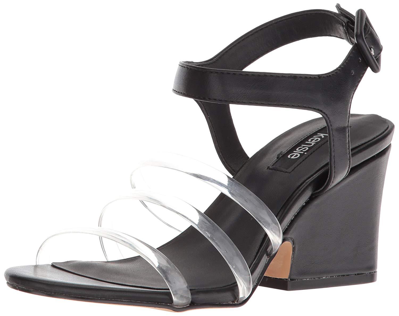 Kensie Donna Open Ebony Open Donna Toe Casual Slingback Sandalos, Nero, Size ... d26711