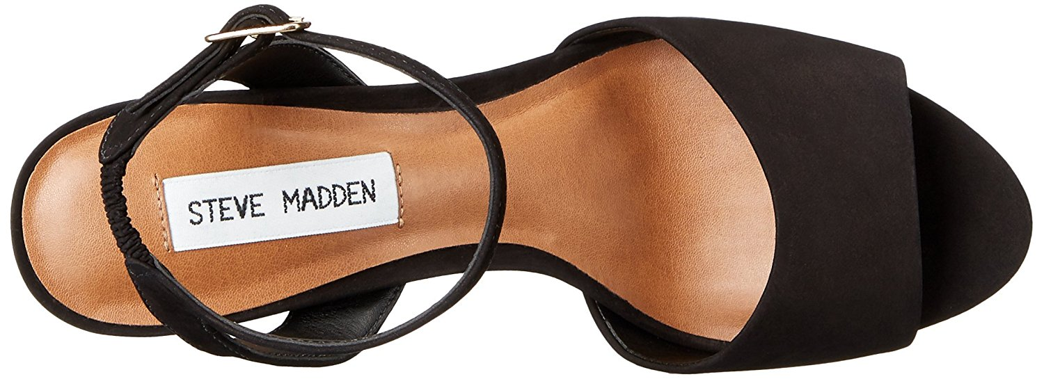 c1619e707c2 Steve Madden Womens Brrit Leather Open Toe Casual Ankle