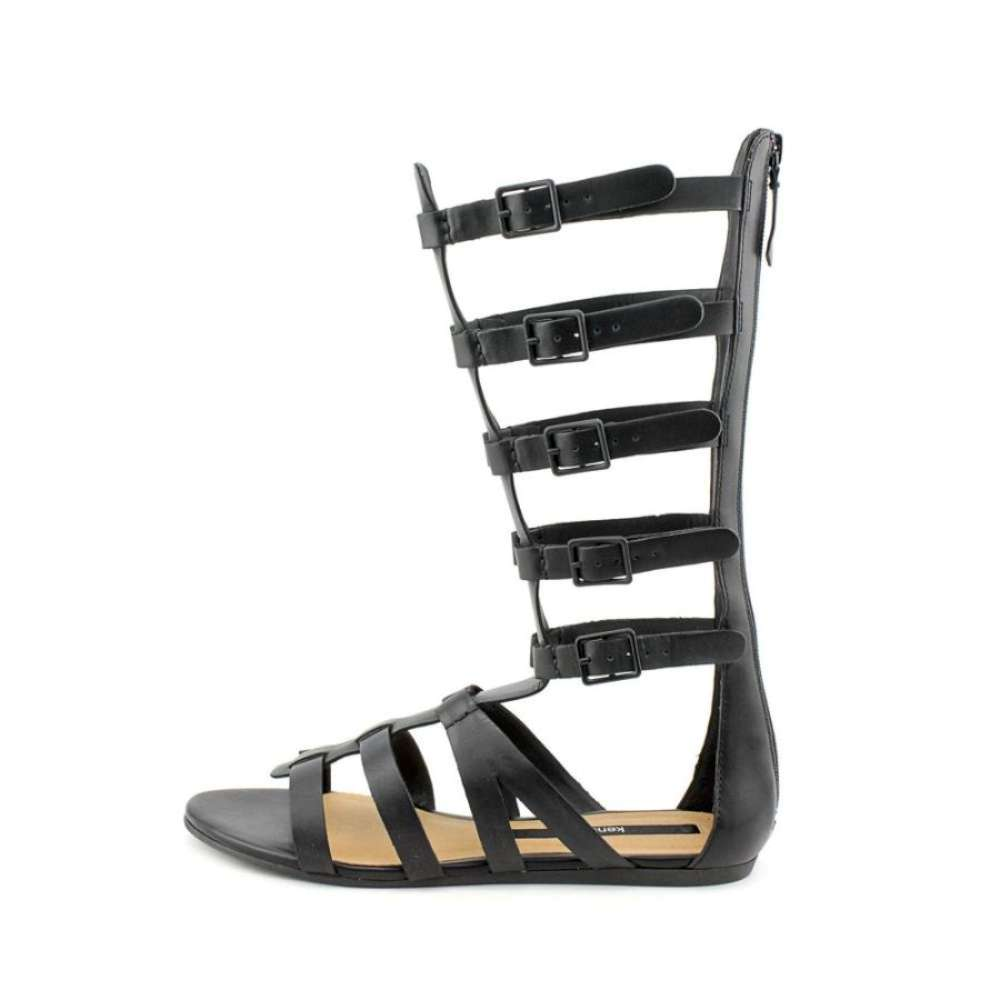 kensie Womens stellar Open Toe Casual Gladiator Sandals Black Size 70
