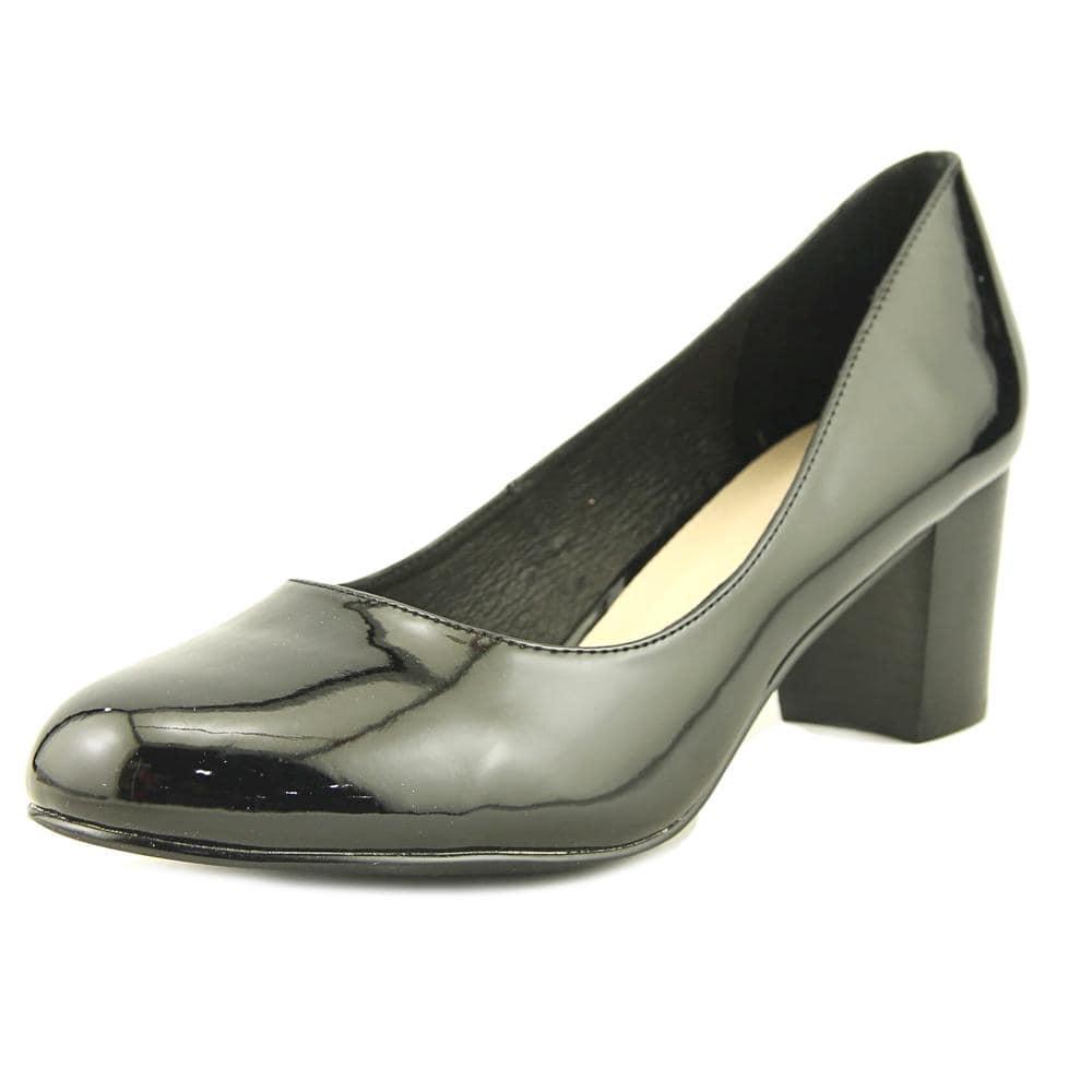 Hush Puppies Womens Nila Damara IIV Leather Closed Toe Classic Black Size 7.0
