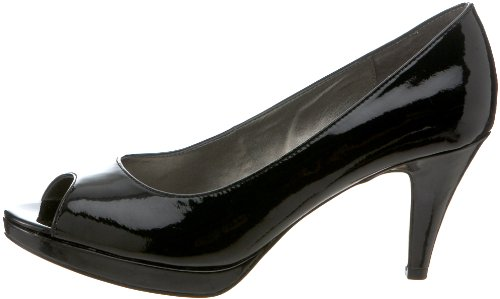 Bandolino Womens MYLAH Peep Toe Classic Pumps Black Synthetic Size 6.0