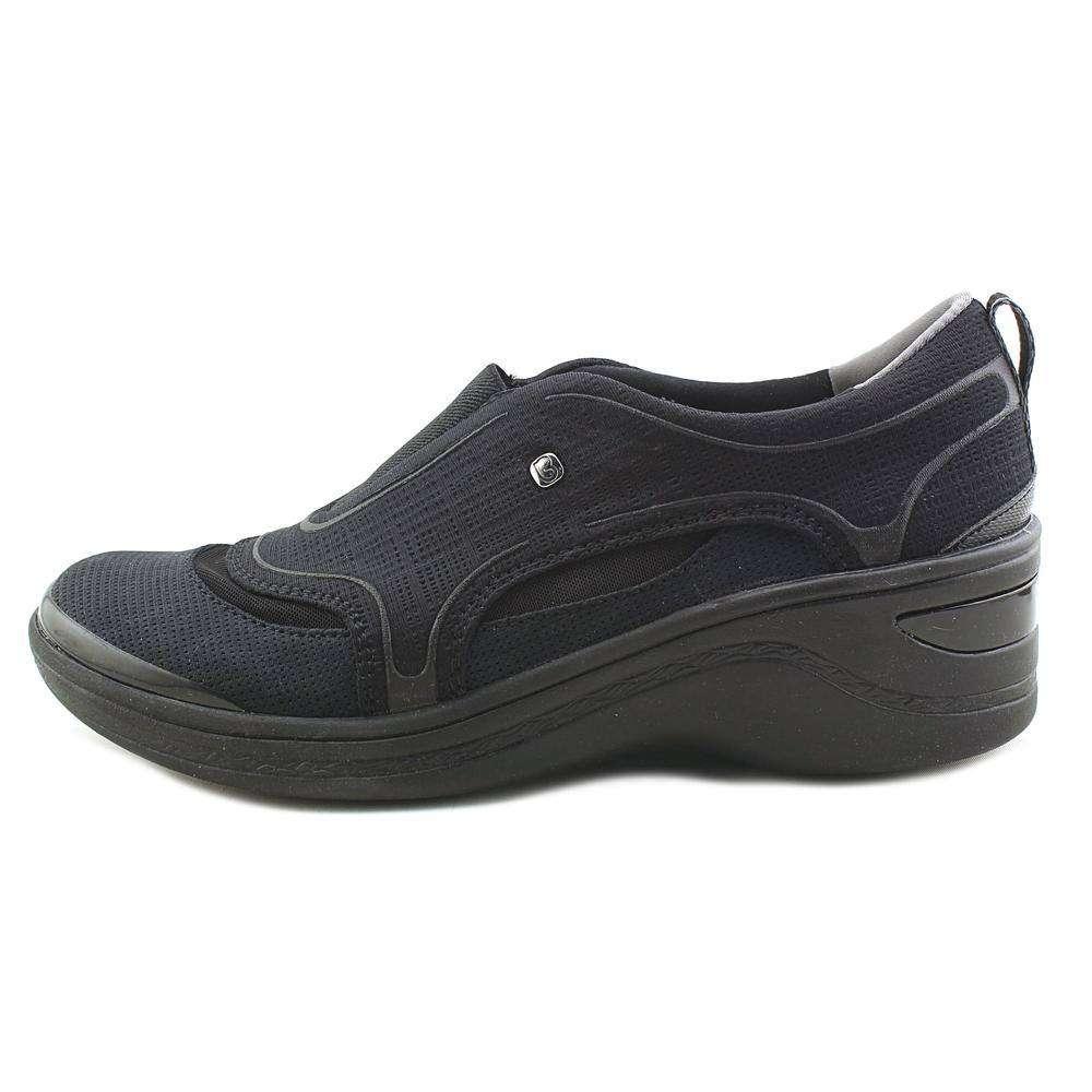 BZees Womens derive Fabric Closed Toe Casual Platform Sandals Black Size 65 b