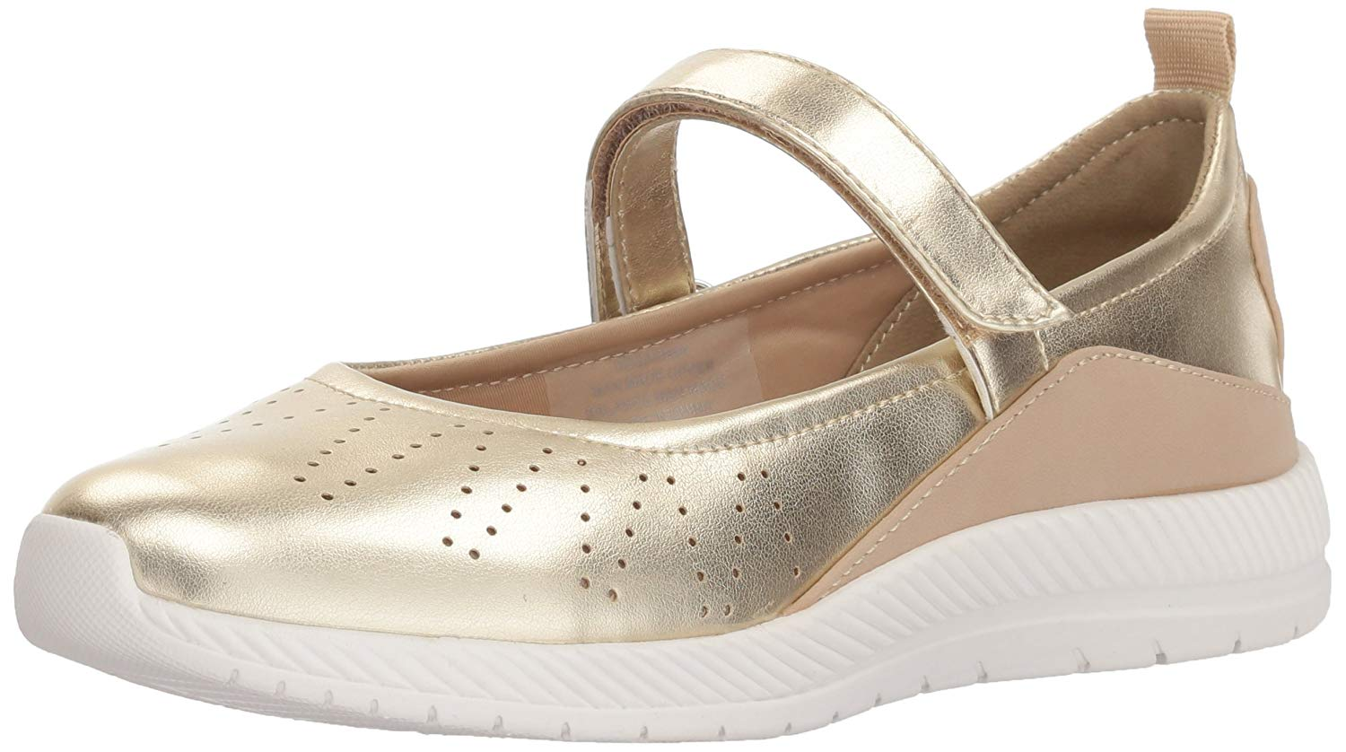 Easy Spirit Damenschuhe GARIMA Closed Toe Mary Jane Flats, Gold, Größe 7.5