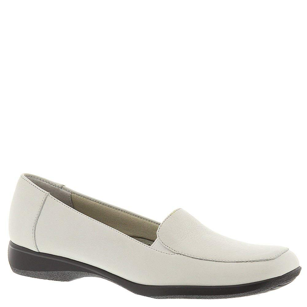 Trougeters femmes Jenn Leather Square Toe Loafers, blanc, Taille 9.0
