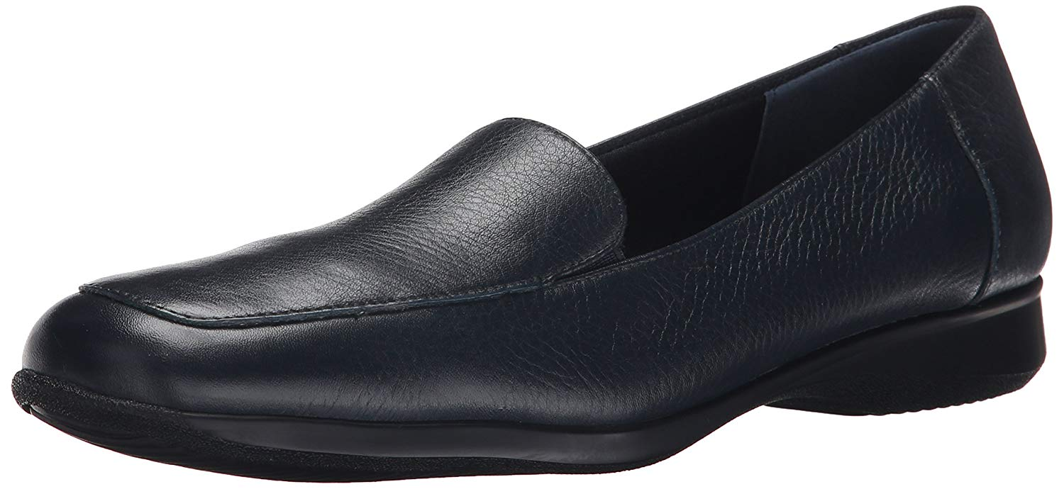 3007ed97101 Details about Trotters Womens Jenn Leather Square Toe Loafers