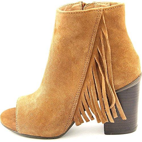 Womens Frida World Leather Peep Toe Ankle Fashion Boots