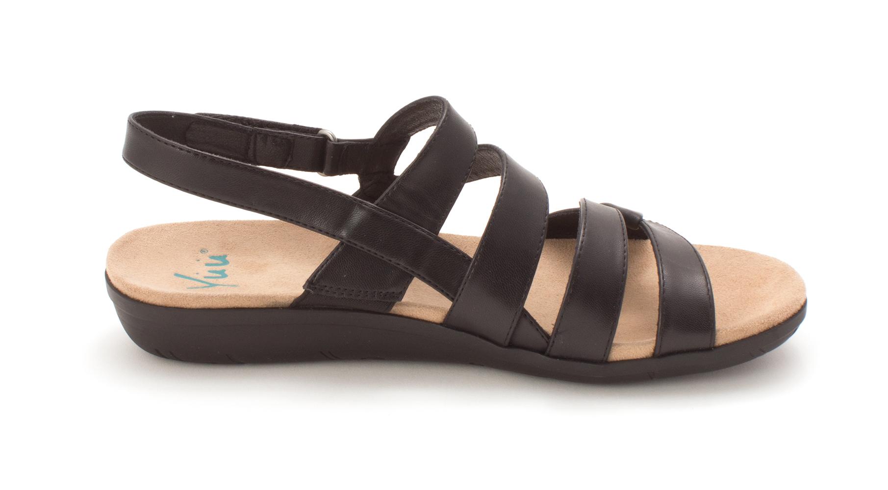 0fa2d9a7bd12 Yuu Womens Janne Open Toe Casual Strappy Sandals