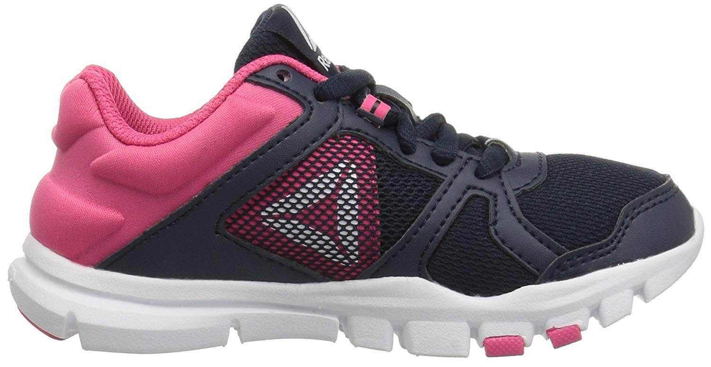 Kids Reebok Girls Yourflex Train 10 Low Top Lace Up Trail Running ... ee2275d93