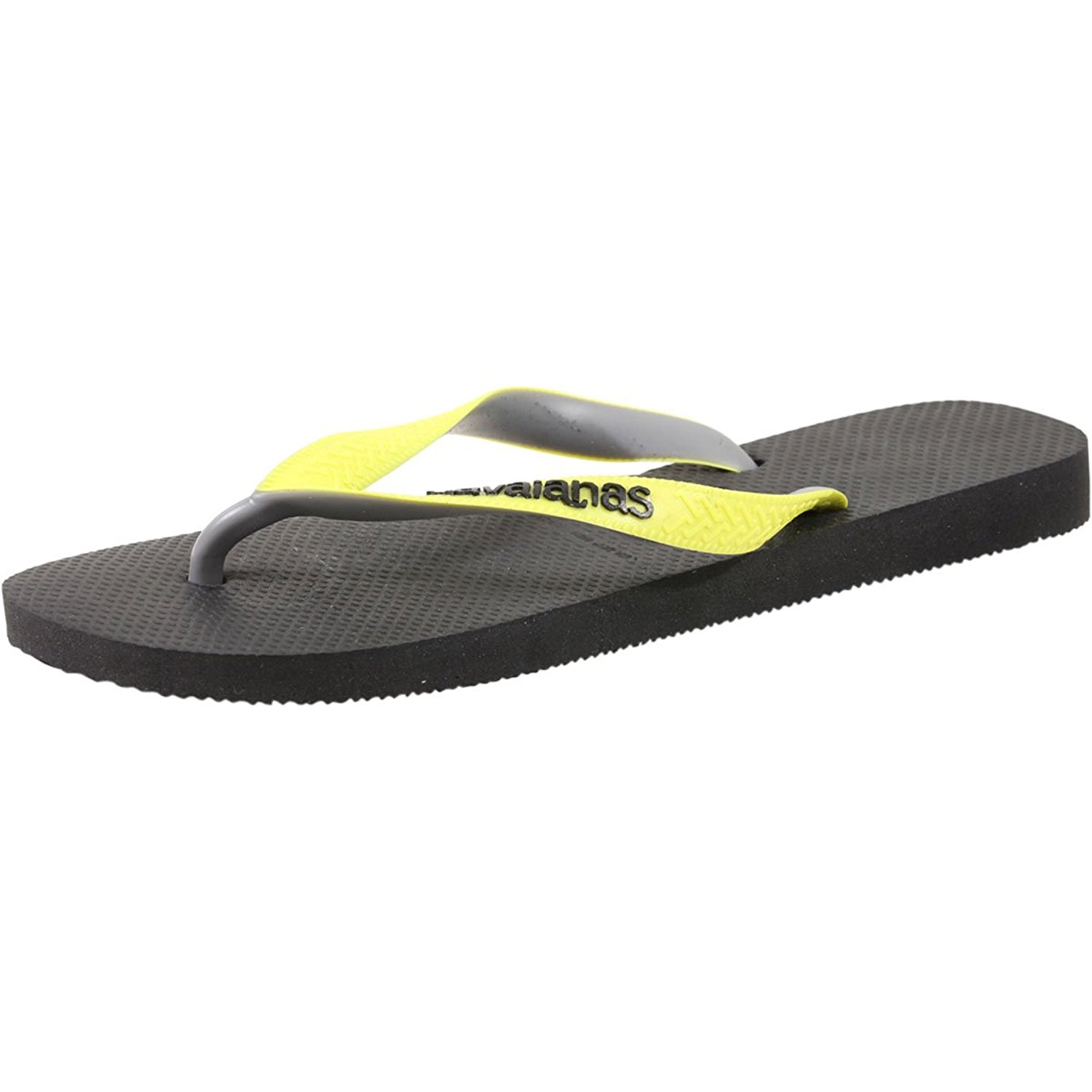 29a1196bee6b Details about Havaianas Women s Top Mix Sandal Black Neon Yellow