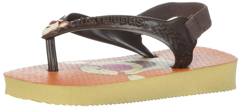 72d3017d1c86 Kids Havaianas Girls BABY DISNEY Rubber Bungee Ankle Strap Flip Flops