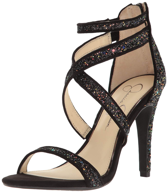 16458011396 Jessica Simpson Womens Ellenie Fabric Open Toe Special Occasion Strappy  Sandals