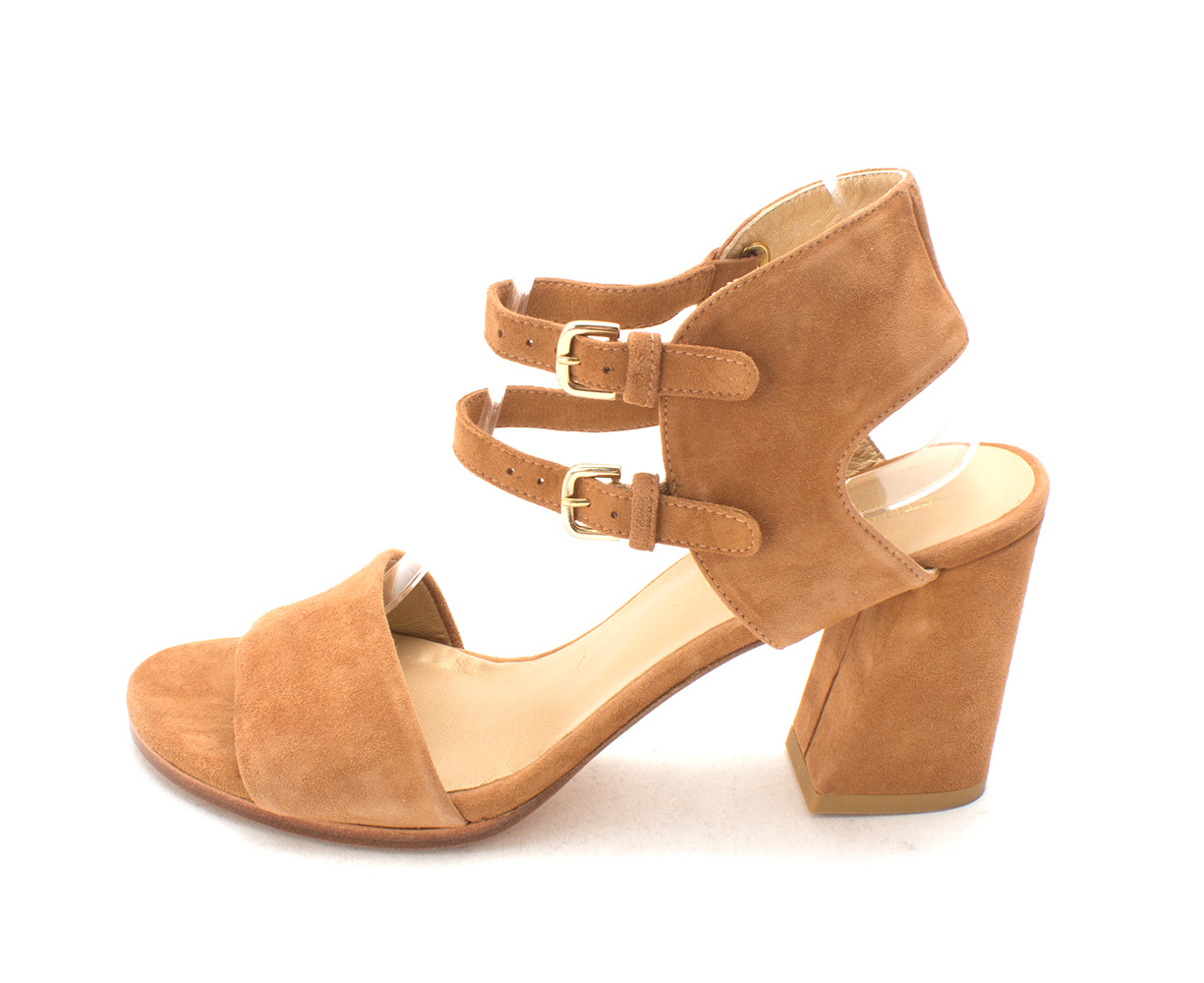 fe35357e2db9 Stuart Weitzman TwoWays Womens Heeled Sandals toffee sudede 9 US   7 ...