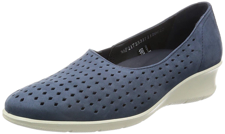 ECCO Womens Felicia NuBuck Closed Toe Casual Platform Sandals Marine Size 60