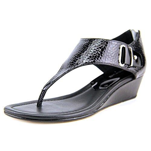 Donald J Pliner Womens DIAN Leather Split Toe Casual TStrap Black Size 70 G