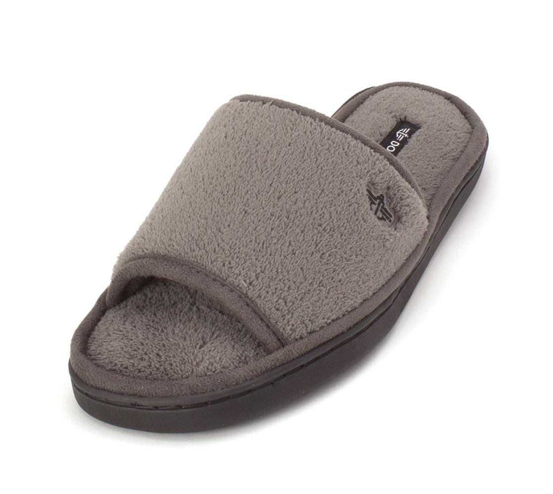 3720003ab5e20 Dockers Mens Terry Open Toe Slip On Slippers