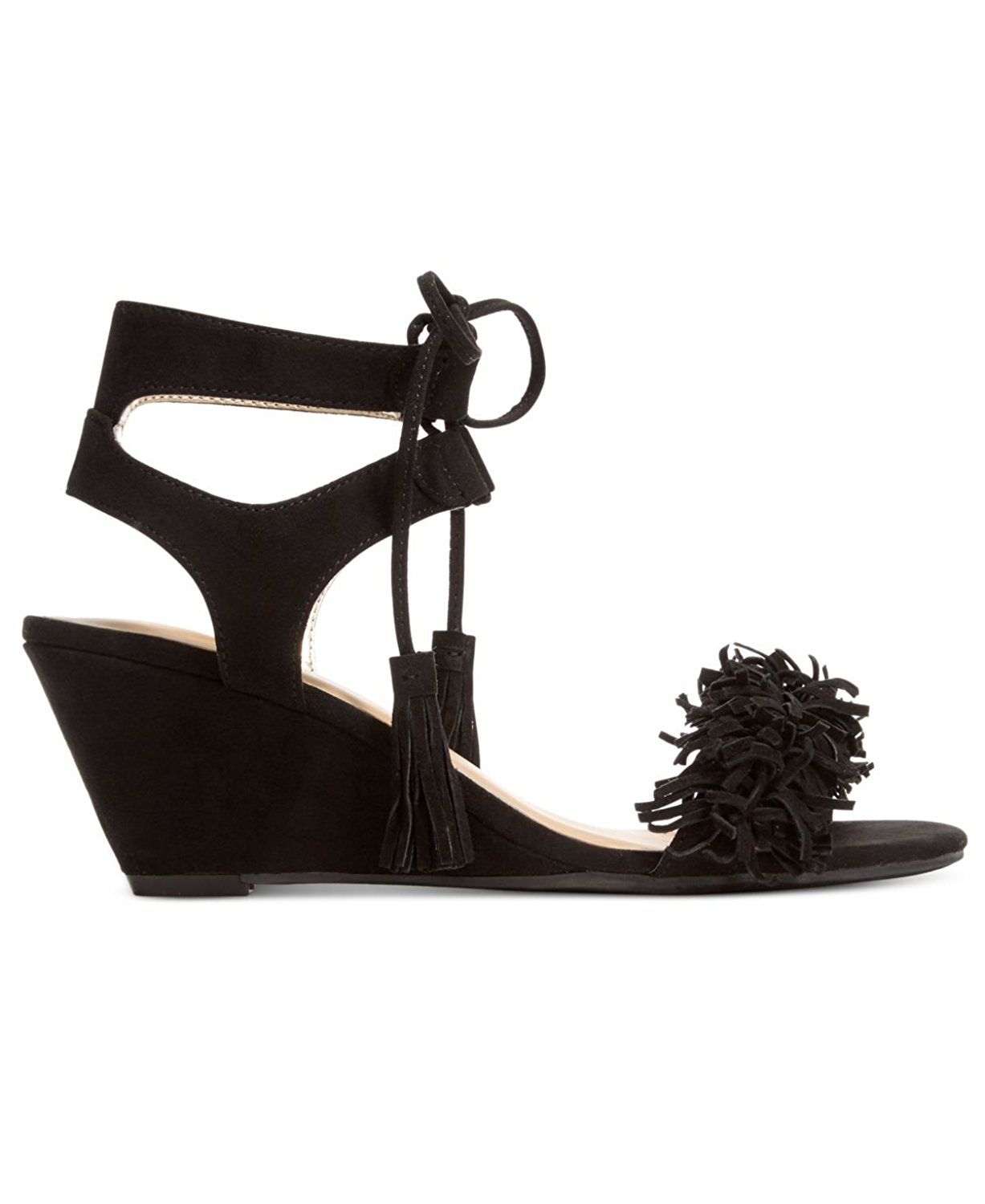 3cd16d2c015 Details about Material Girl Womens Haniya Leather Open Toe Casual Platform  Sandals