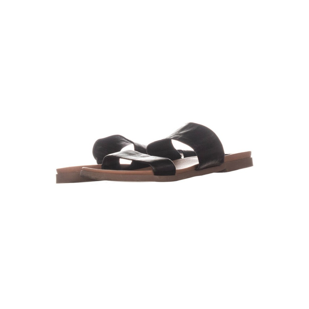 7356a3da42d Details about Steve Madden Womens Judy Leather Open Toe Casual Slide Sandals