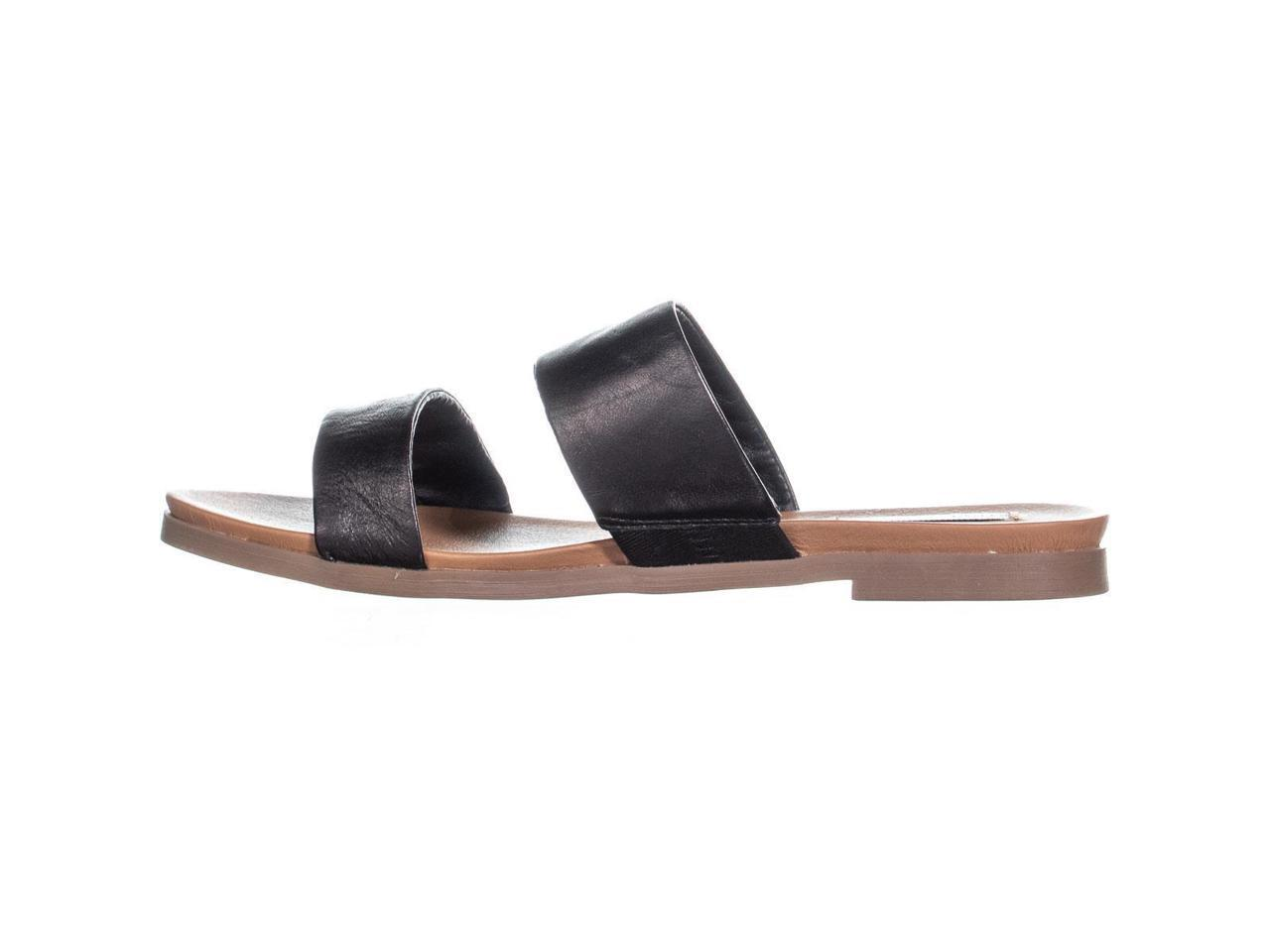 df5b6119cc0 Steve Madden Womens Judy Leather Open Toe Casual Slide Sandals