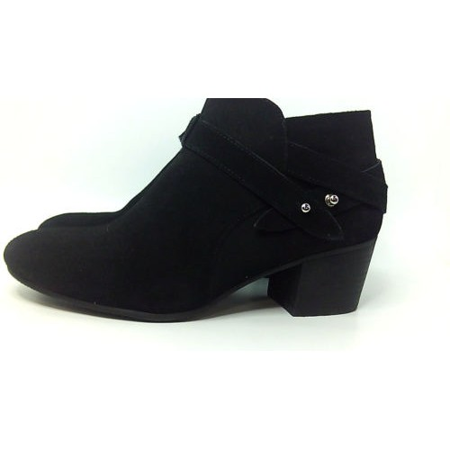 Crown Vintage Womens regina Leather Almond Toe Ankle Fashion, Black, Size 8.5 aG