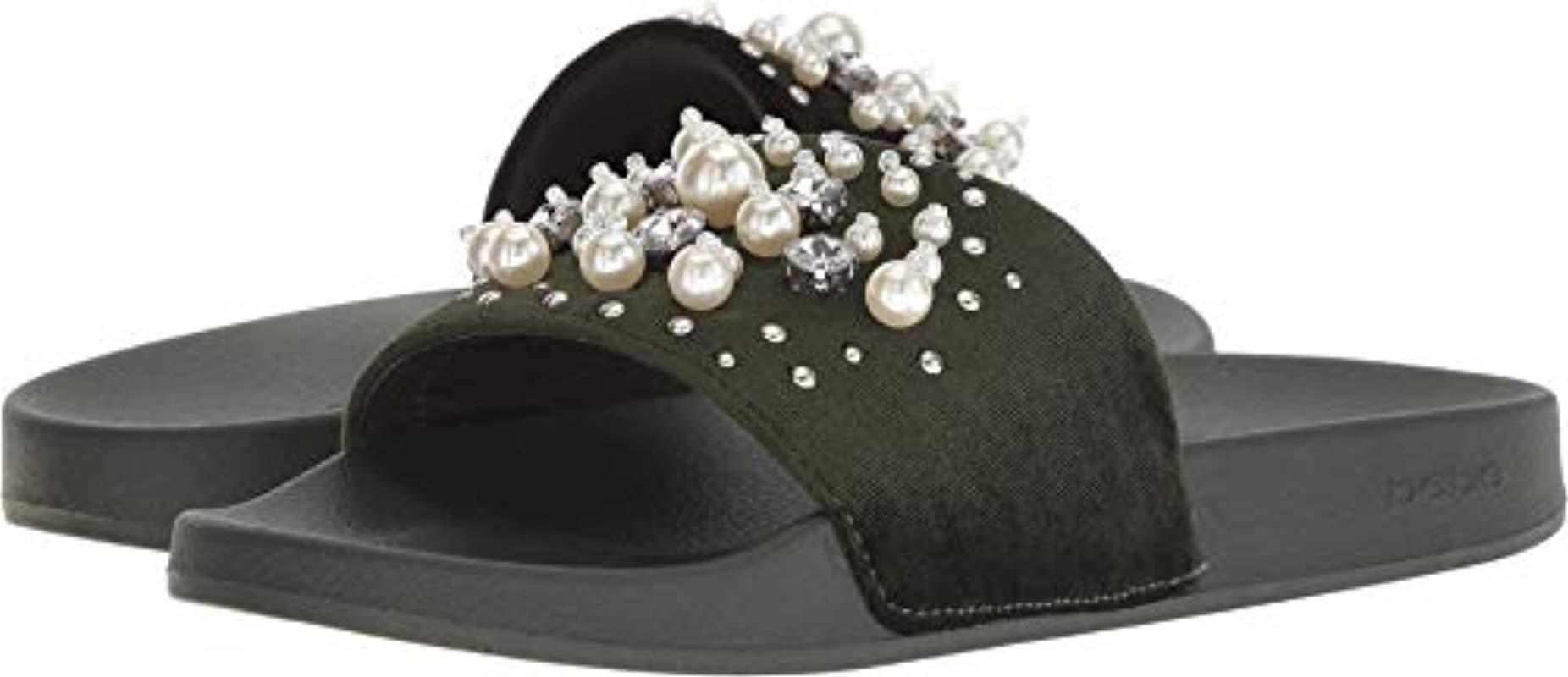 b76860acc93 Bebe Womens Fenix Open Toe Casual Slide Sandals
