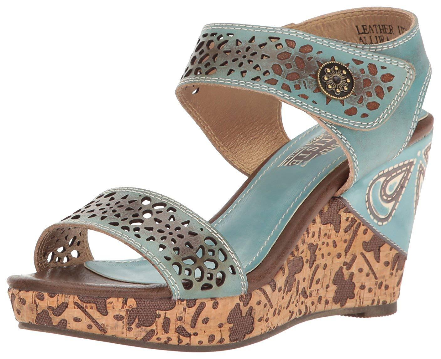 abe7537c5df L Artiste Spring Step Women s Allura-Sky Wedge Sandal