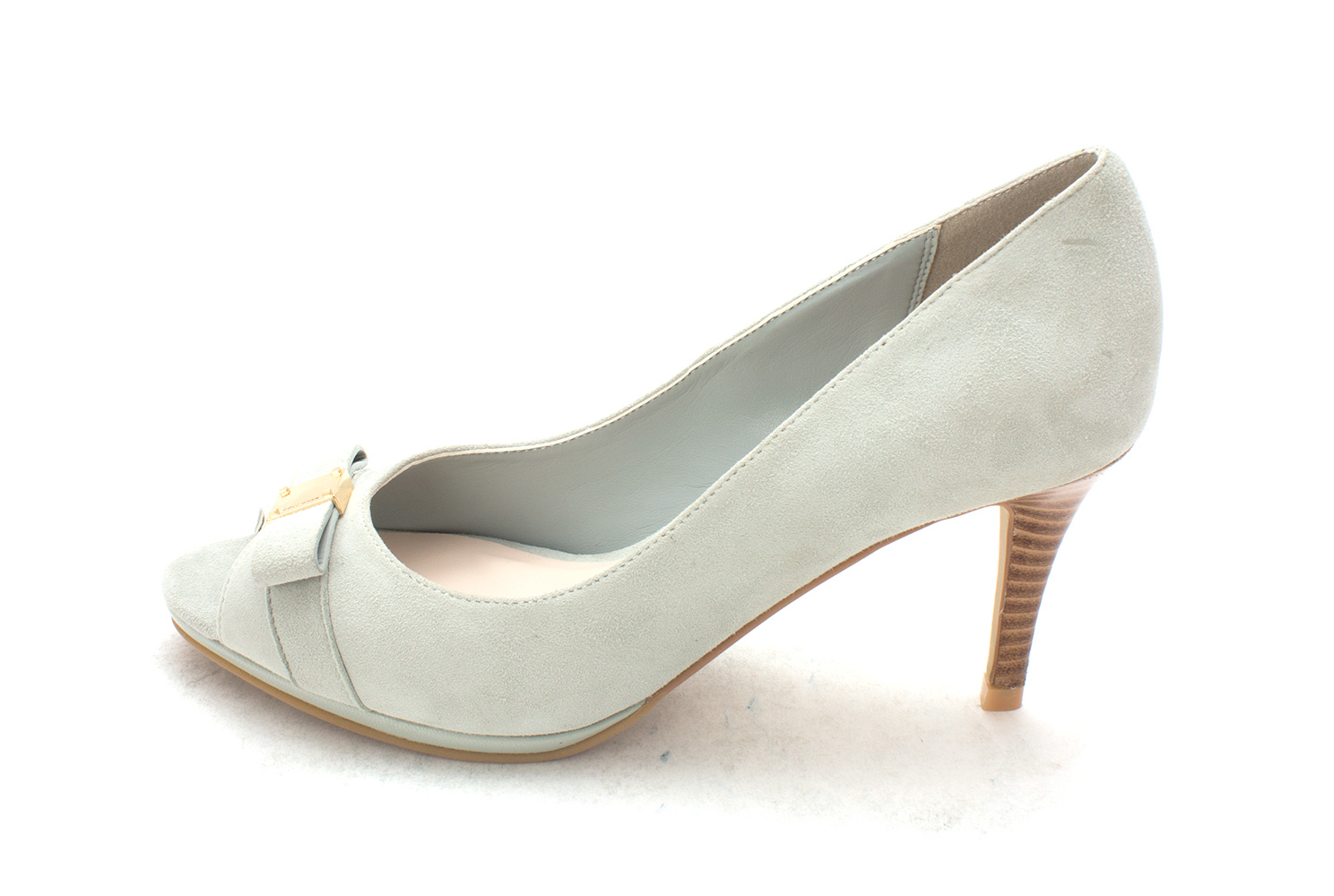 Cole Haan Womens Clarissasam Pointed Toe Classic Pumps Grey Jade Size 6.0