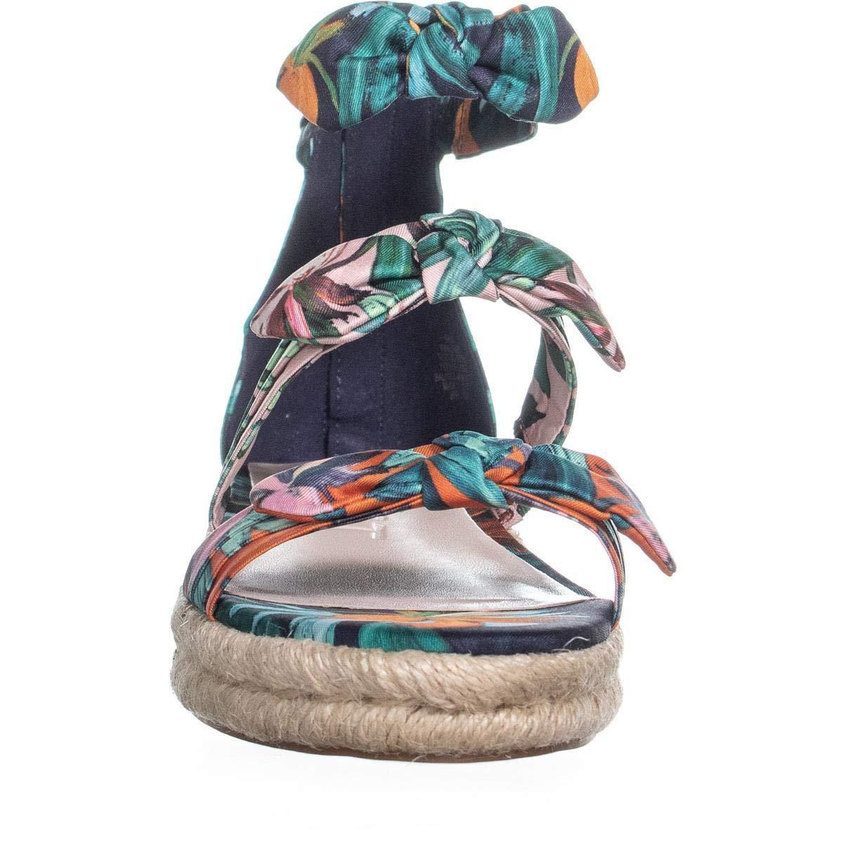 75571208e94 Details about Nine West Womens Allegro Open Toe Casual Espadrille Sandals,  Blue, Size 7.0 OSIz