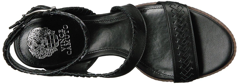 Vince Camuto Frauen Ivanta Offener Zeh leger Leder Sandalen mit Keilabsatz