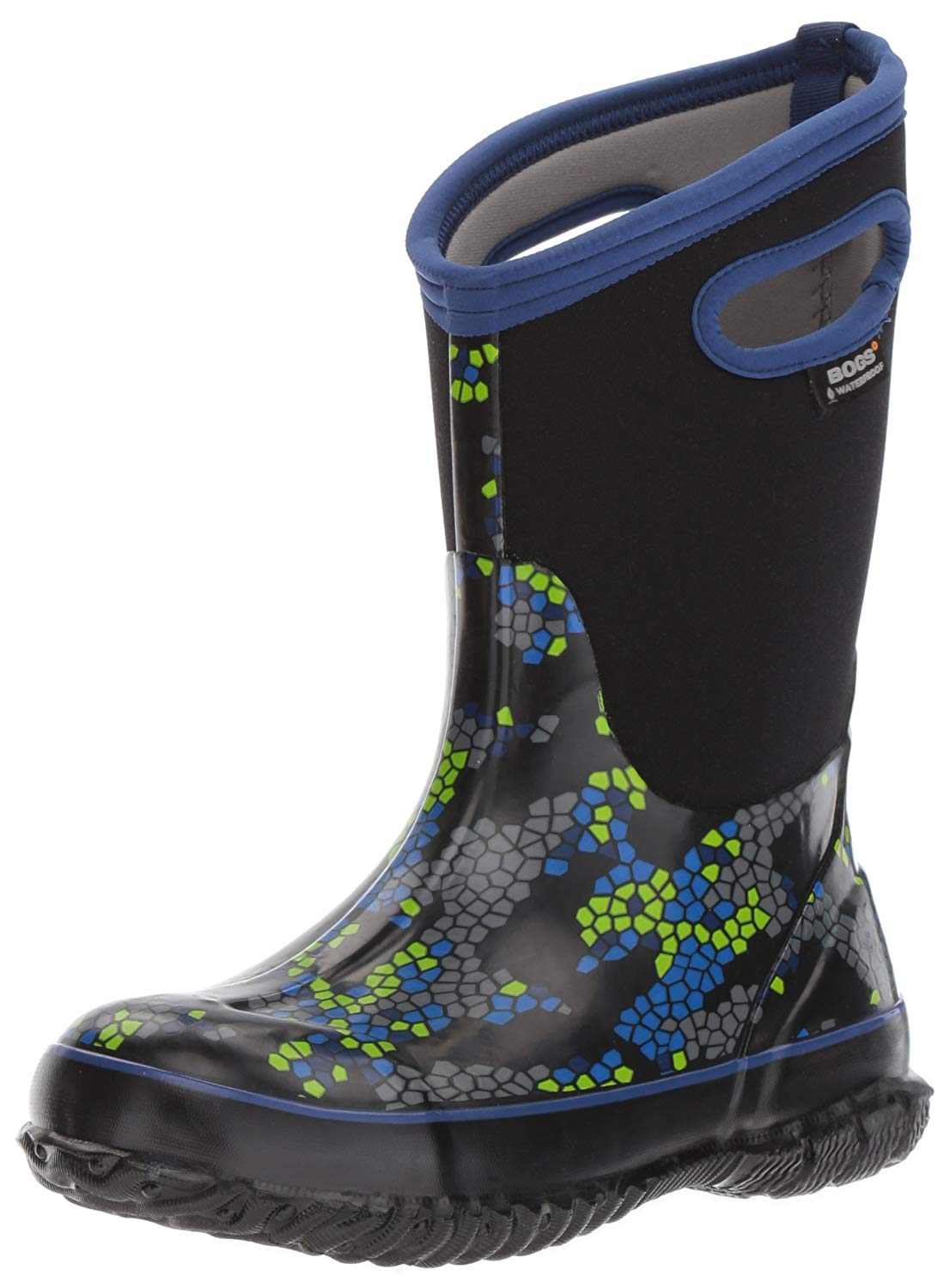 7edf4063b Bogs Kids Classic High Waterproof Insulated Rubber Rain and Winter Snow Boot  .