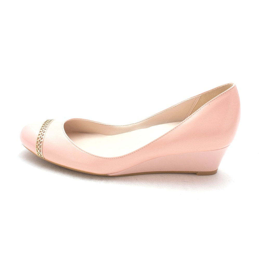 Cole Haan Womens 14A4006 Closed Toe Wedge Pumps Pink Size 6.0