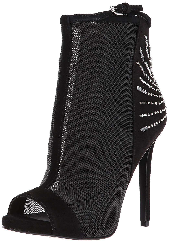 Guess Mujer Mujer Mujer Polli Tela Peep Toe Tobillo botas De Moda ba6e88