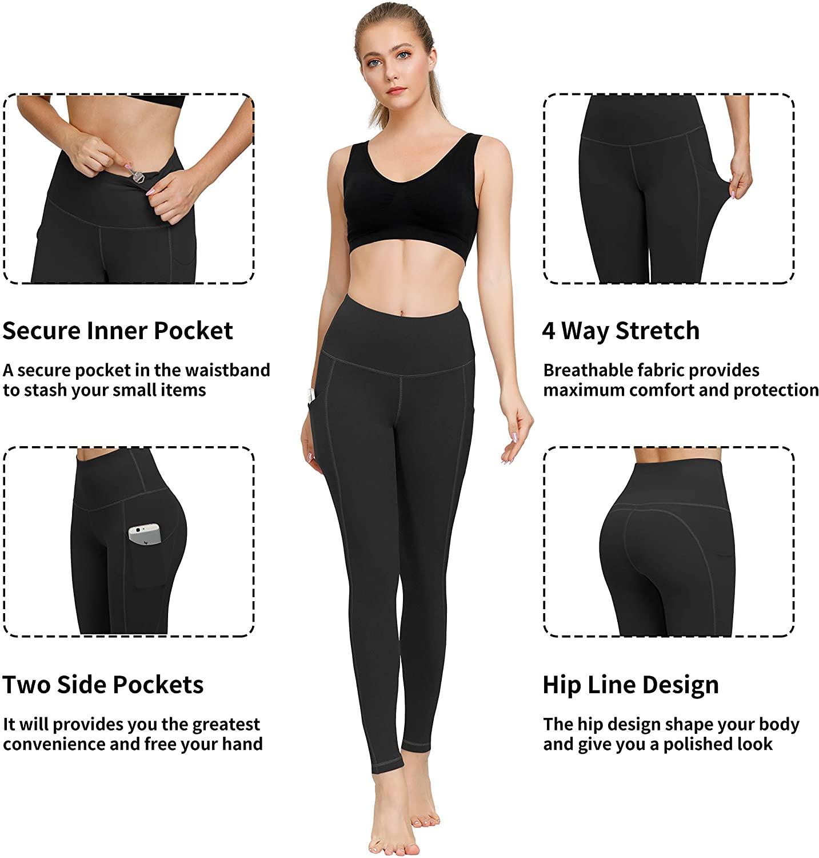 HOFI High Waisted Yoga Pants for Women, 4 Way Stretch