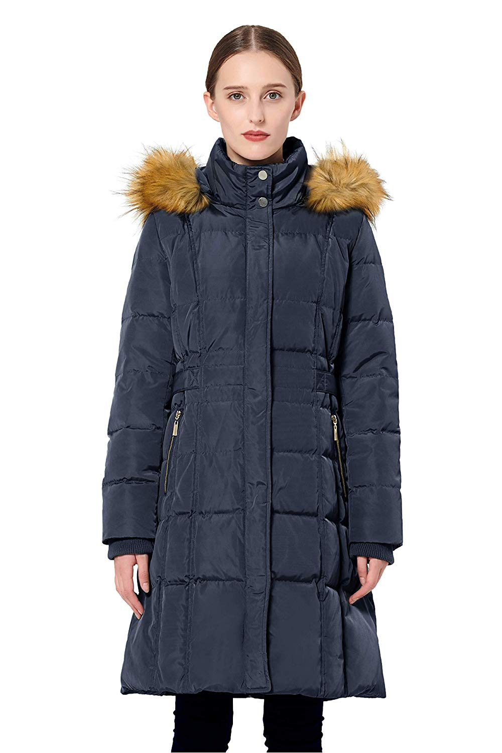 Orolay Women's Puffer Down Coat Winter Jacket with Faux ...