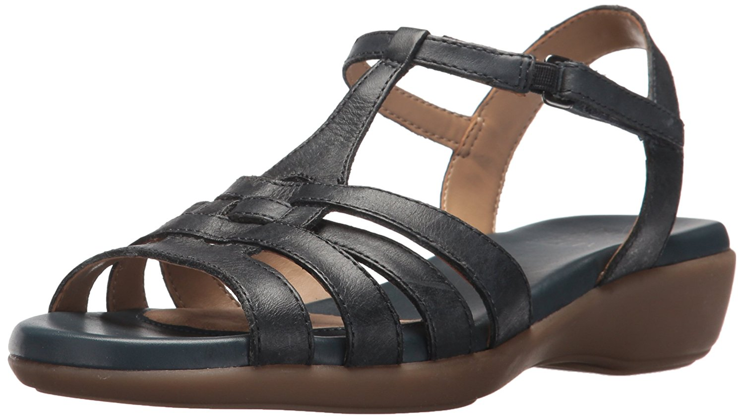 Naturalizer Damenschuhe Nanci Leder Open Casual Toe Casual Open T-Strap  Denim  Größe 6.0 rO2u c12c31