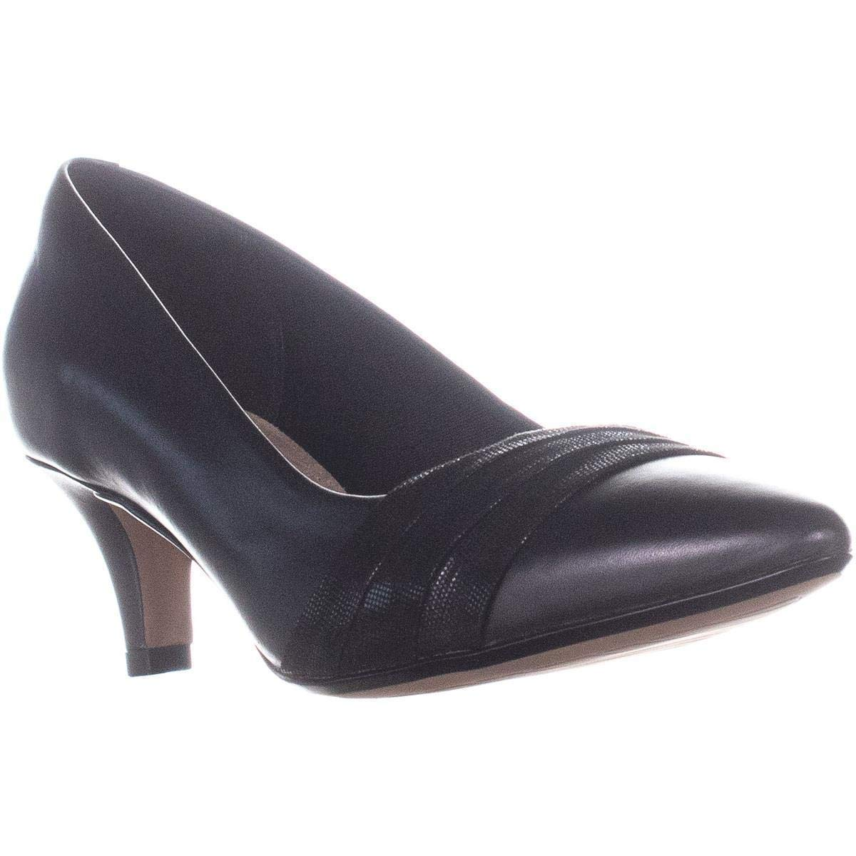 Details about Clarks Womens Linvale Madie Pointed Toe Classic Pumps, Black, Size 10.0 uiyn