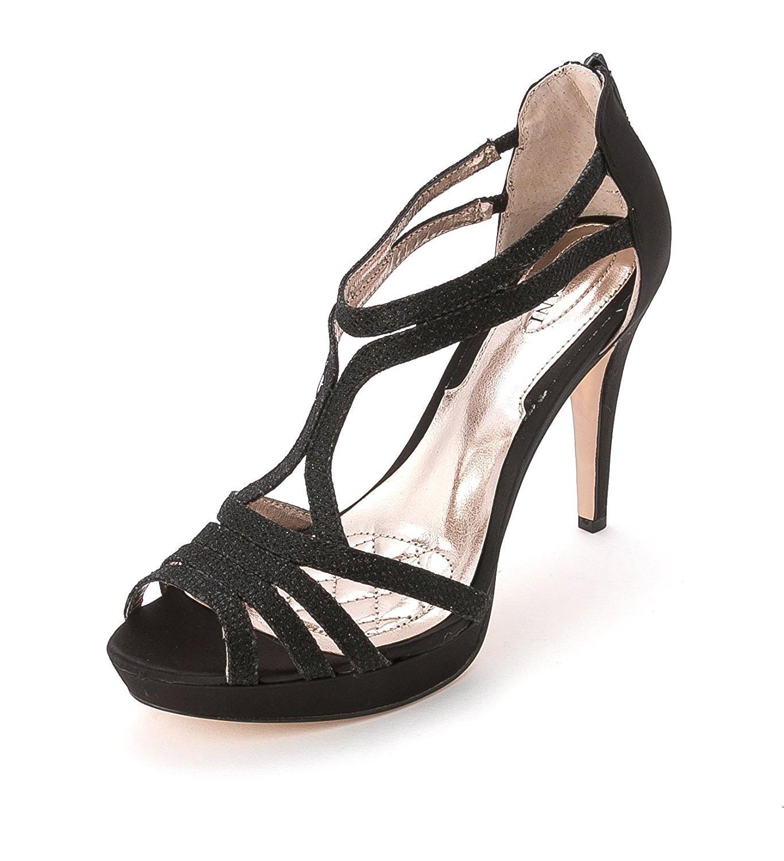 Alfani Womens Tacy Open Toe TStrap Classic Pumps Black Size 8.5