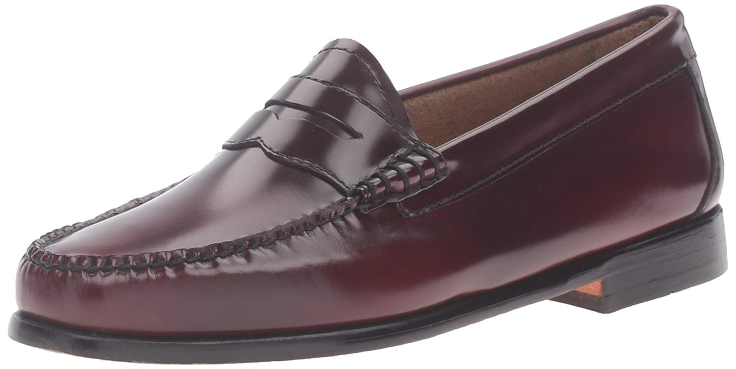 G.H. Bass & Co. femmes Whitney Leather Closed Toe Loafers, Cordovan, Taille 6.0 V1