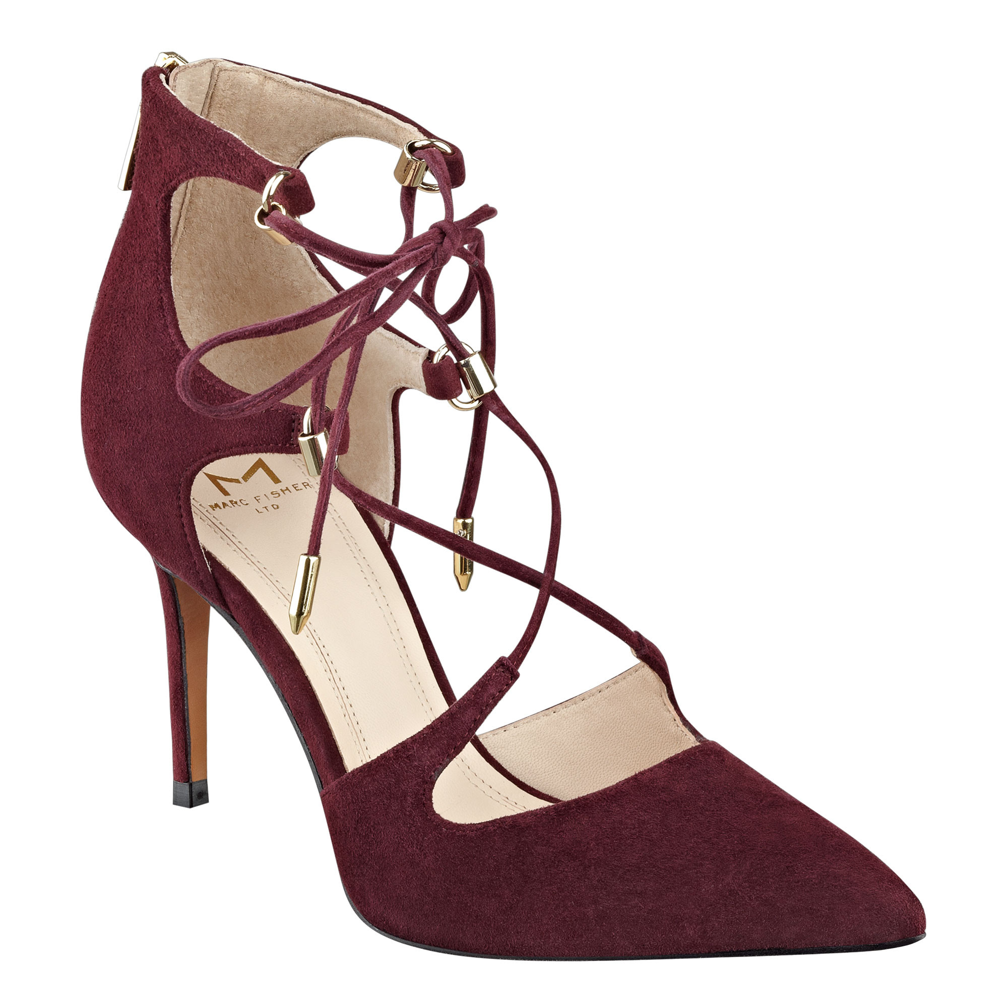 6adee3cbbef Marc Fisher Womens Toni Suede Closed Toe Ankle Strap Classic Pumps ...