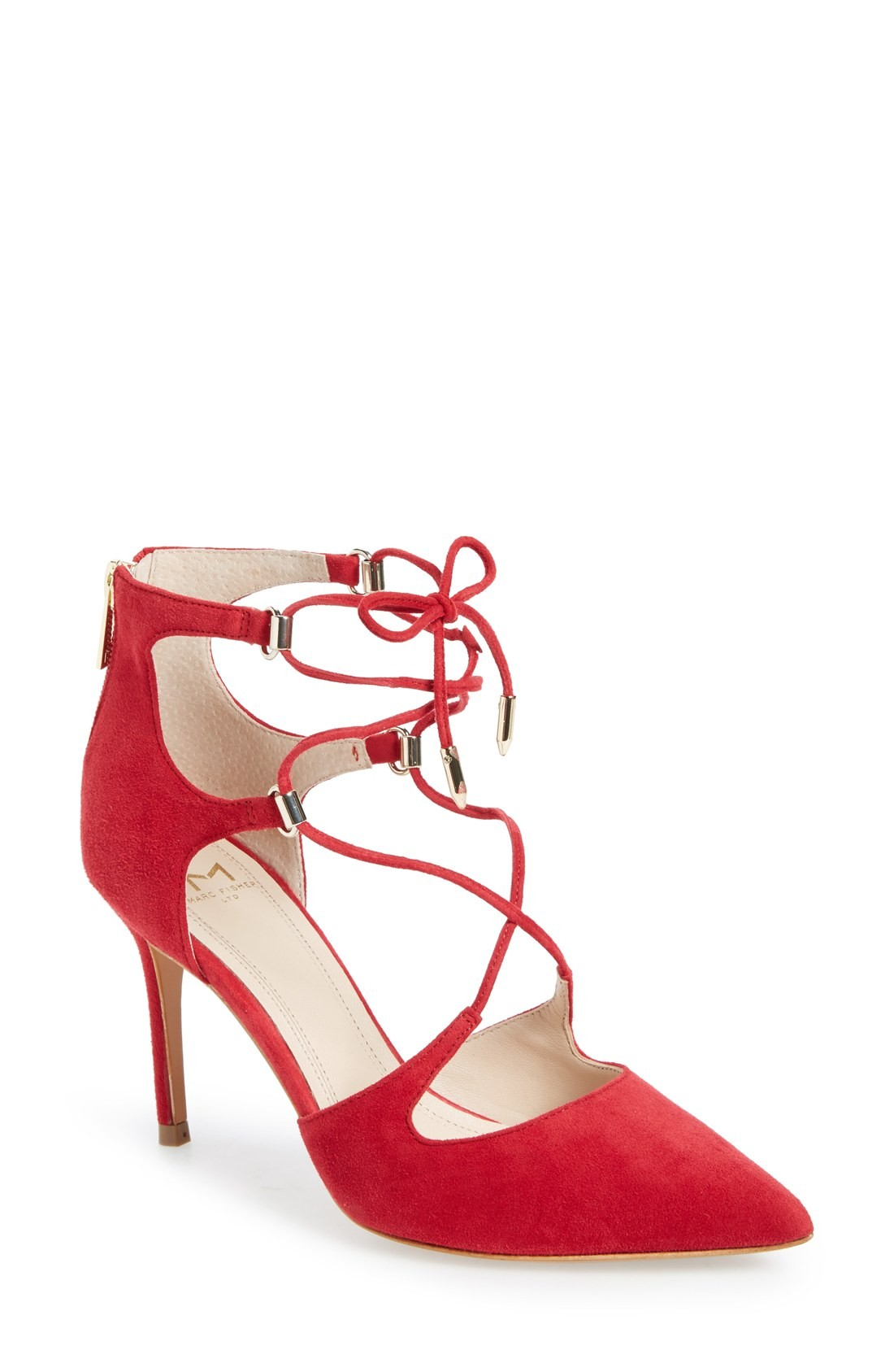 Marc Marc Marc Fisher Damenschuhe Toni Suede Closed Toe Ankle Strap Classic, ROT 8097bd
