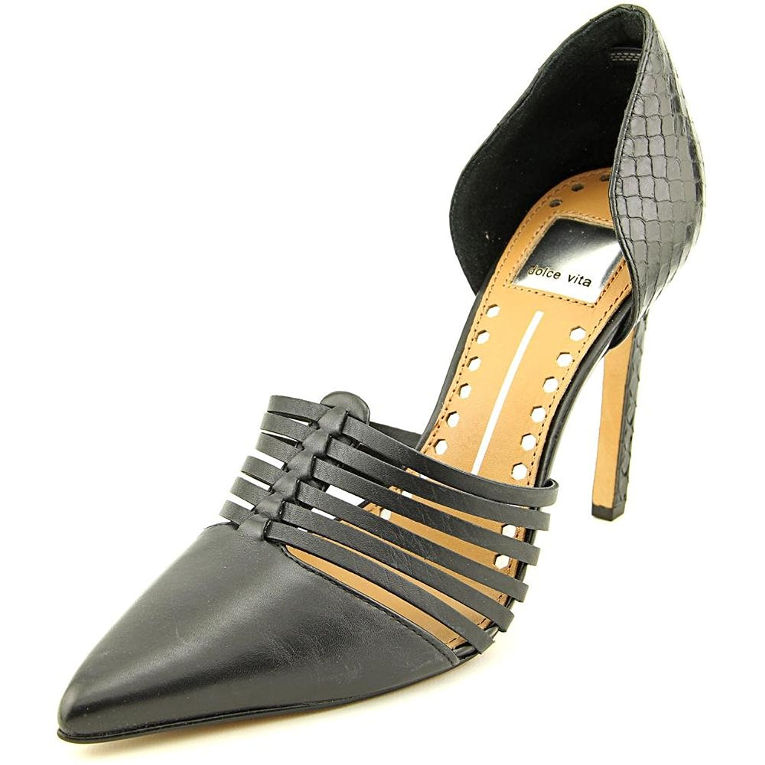Dolce Vita Kisa Women Leather Heels Black Size 9.0