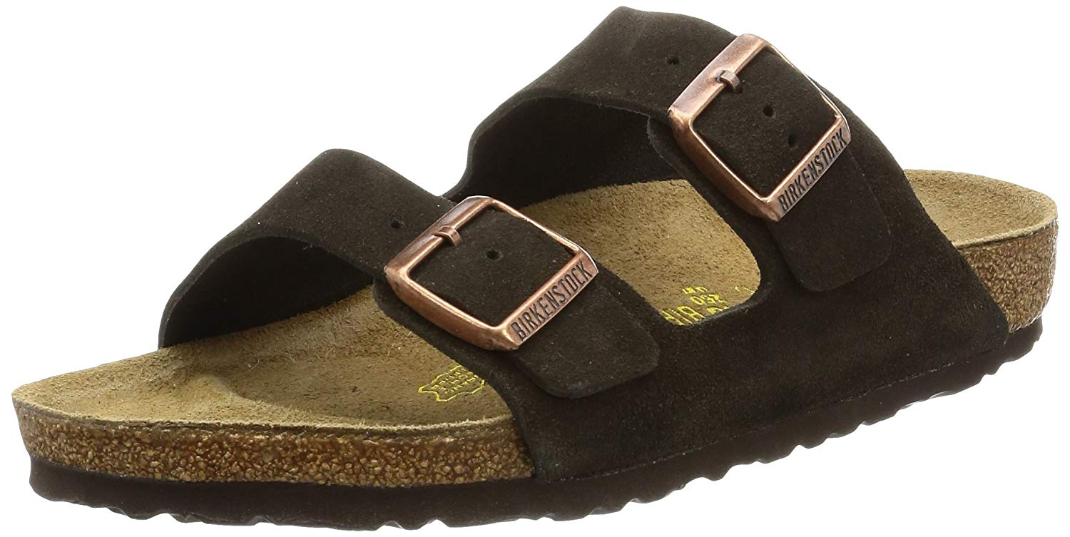 e2907cfb69f Birkenstock Womens ARIZONA Leather Open Toe Casual Slide Sandals