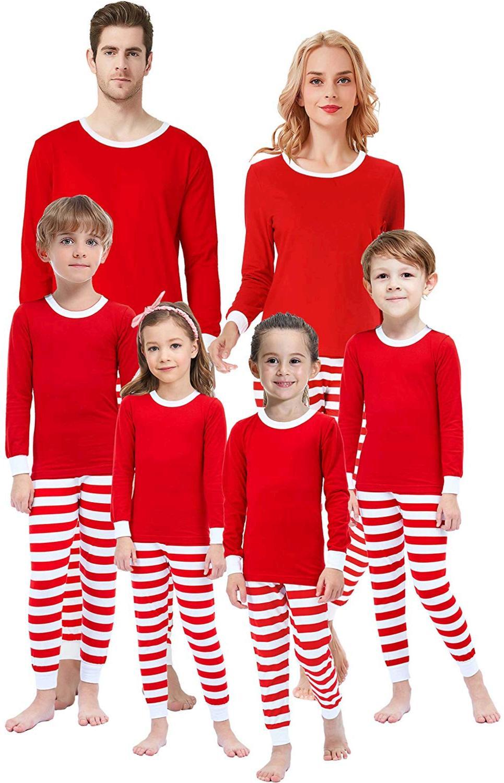 Matching Family Pajamas for Boys, Red-christmas-classic ...