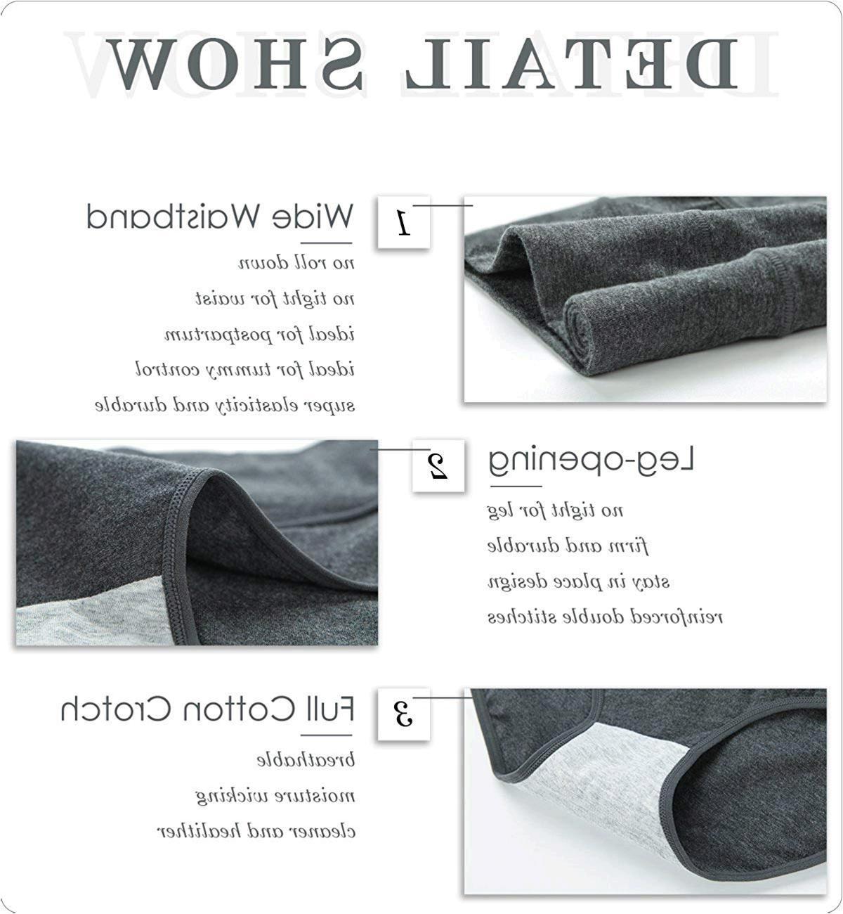 Innersy Women's Cotton Soft Briefs Underwear Postpartum ...